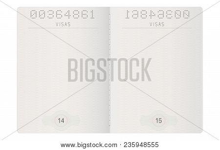 Passport Pages. Blank Paper Pages. Vector 3d Illustrationllustration