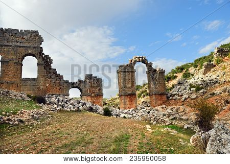 Olba Aqueduct Is A Ruined Roman Aqueduct In Mersin Province, Southern Turkey. The Aqueduct Was Commi