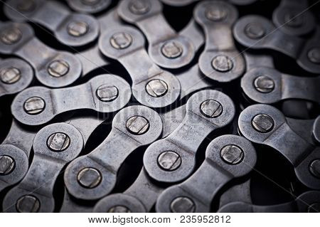 A Pattern Formed By The Bicycle Chain, Selective Focus.