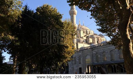 The Sultan Ahmed Mosque or Sultan Ahmet Mosque , is a historic mosque located in Istanbul, Turkey.