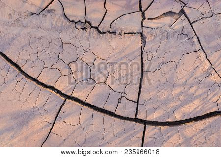 Cracked Waterless Soil ;drought Earth And Desert Concept