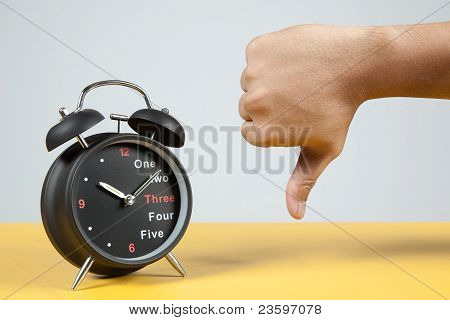 Alarm Clock With Failure Sign
