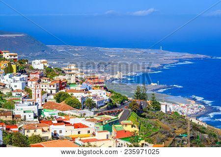 Tenerife, Canary Islands, Spain: Overview Of The Colorful And Beautiful Town On The West Coast Of Th