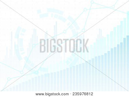 Abstract Financial Chart With Stock Graph Market.vector Illustration