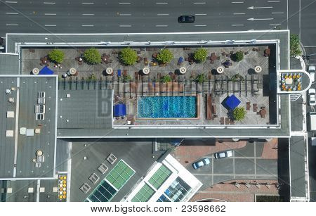 Birdview of a tall building