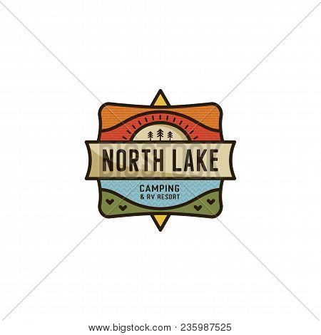 Vintage Hand Drawn Travel Badge. Camping Label Concept. Mountain Expedition Logo Design. Travel Badg