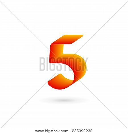 Number 5 Five Logo Icon Design Template Elements