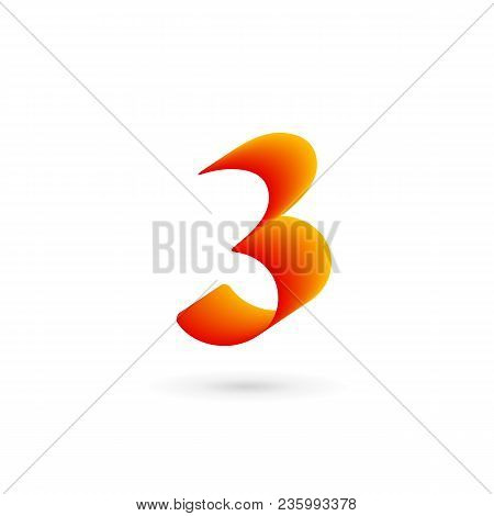 Number 3 Three Logo Icon Design Template Elements