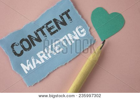Conceptual Hand Writing Showing Content Marketing. Business Photo Showcasing Digital Marketing Strat