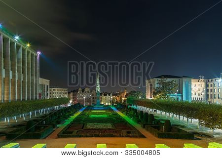 The Mont Des Arts Or Kunstberg Is An Urban Complex And Historic Site In The Centre Of Brussels, Belg
