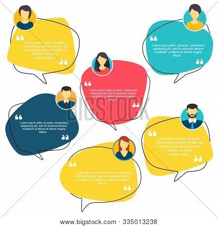 Testimonial Speech Bubble Concept, Customer Feedback For Info Graphic, Application For Info Graphic,
