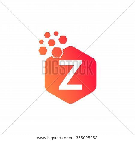 Z Dots Logo Design Template. Hexagon Z Icon. Z Letter Logo Vector. Hexagon Logo, Z Letter, Z Dots, Z