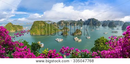 Landscape With Amazing Halong Bay In Vietnam