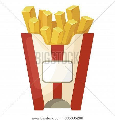 French Fries Icon, Crispy Fast Food Snack