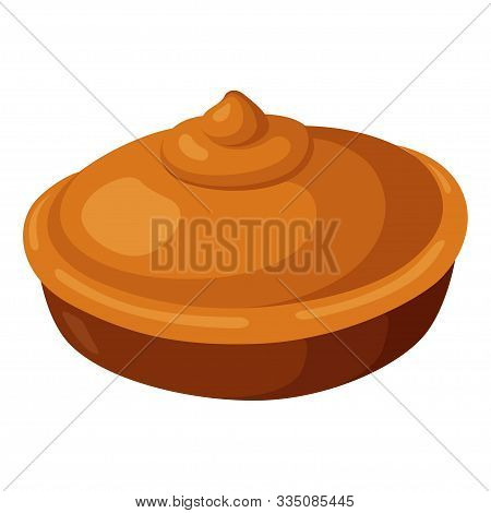 Pie Icon, Baked Round Tasty Homemade Tart