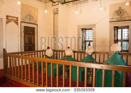 Istanbul, Turkey - September 5th 2019. The Interior Of The Late 16th Century Tomb Of Princes In The