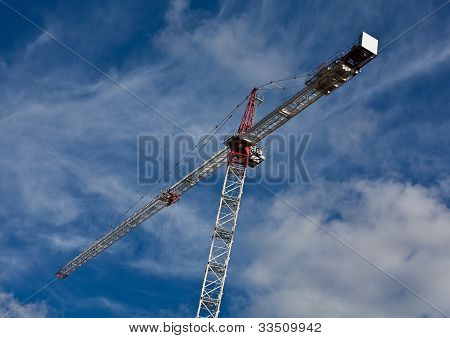 High rise cranes on construction site