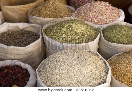 Bags full of spices