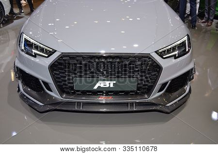 Geneva, Switzerland, March 06-2018: Abt Audi Rs4-r At Gims