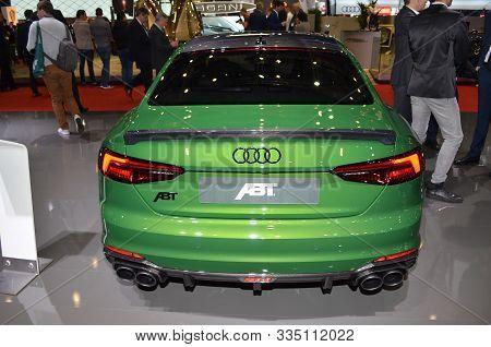 Geneva, Switzerland, March 06-2018: Abt Audi Rs5-r At Gims