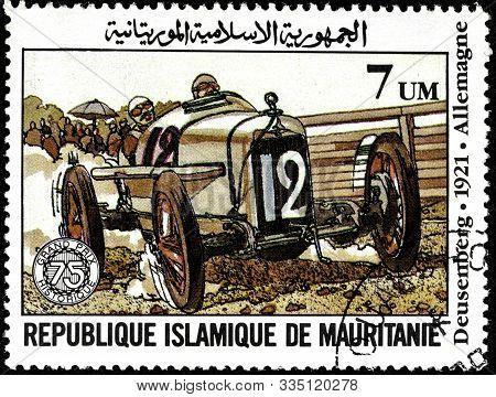 11 14 2019 Divnoe Stavropol Territory Russia Postage Stamp Of The Islamic Republic Of Mauritania 198