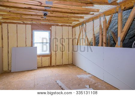 Insulation Of Attic With Thermal Insulation Cold Barrier And Insulation Material Thermal Insulation