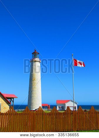 Cap Des Rosiers Lighthouse On The Shores Of The St Lawrence River Gaspésie Québec Canada