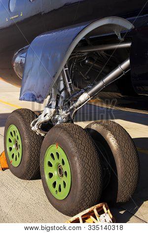 Main Landing Gear Of Big Transport Aircraft, Close-up