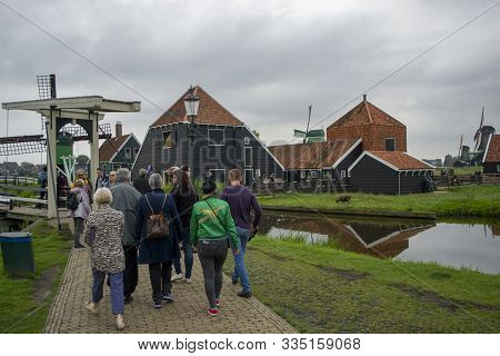 Amsterdam, Netherlands - 5th June, 2019: Zanse Schans Is An Open-air Museum In The Municipality Of Z