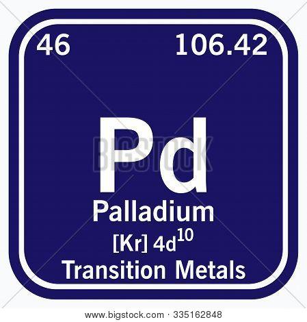 Palladium Periodic Table Of The Elements Vector Illustration Eps 10.
