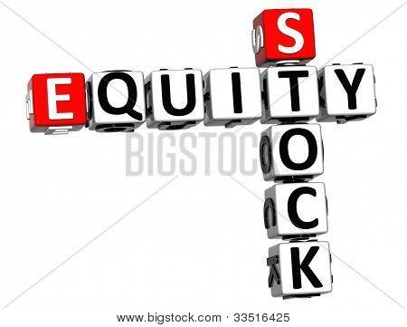 3D Stock Equity Crossword