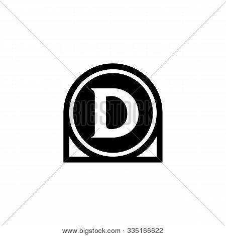 D Letter Icon Design With Circle. Abstract Circle Letter D Creative Alphabet Logo Icon Design. Lette