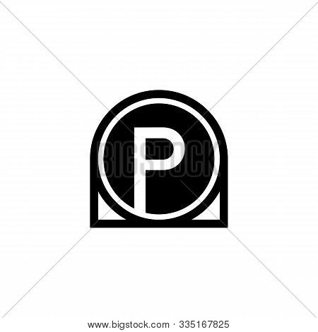 P Letter Icon Design With Circle. Abstract Circle Letter P Creative Alphabet Logo Icon Design. Lette