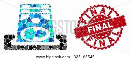 Mosaic Payment Terminal And Grunge Stamp Seal With Final Phrase. Mosaic Vector Is Created With Payme