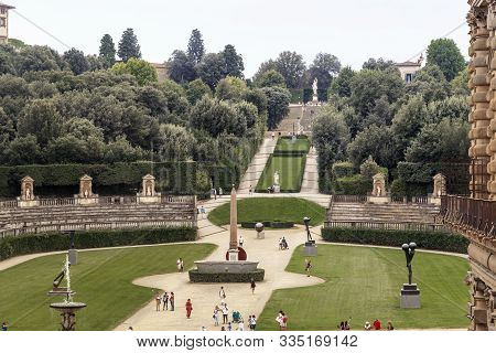 Florence, Italy - September 13, 2018: This Is An Aerial View Of The Amphitheater And The Central Ave