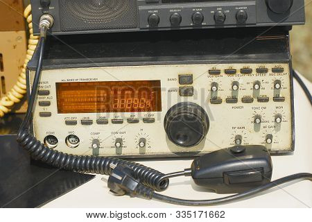 Old Amateur Radio Transmitter Transceiver. Ham Radio