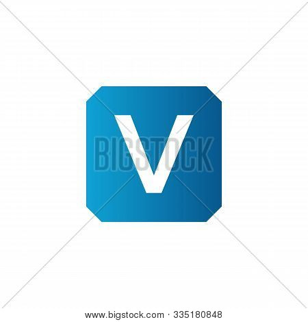 Initial Square Letter V Icon Logo Vector Template. Abstract Square V Logo. Square Letter V App Icon.