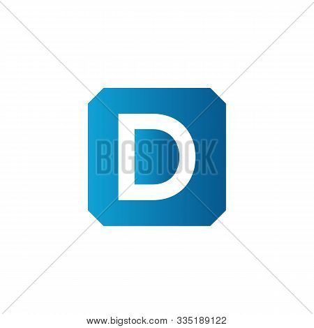 Initial Square Letter D Icon Logo Vector Template. Abstract Square D Logo. Square Letter D App Icon.