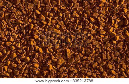Instant granular coffee powder as background