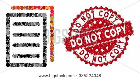 Mosaic Copy Document And Grunge Stamp Watermark With Do Not Copy Caption. Mosaic Vector Is Designed