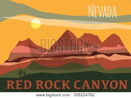 Red Rock Canyon In In Nevadas Mojave Desert, United States