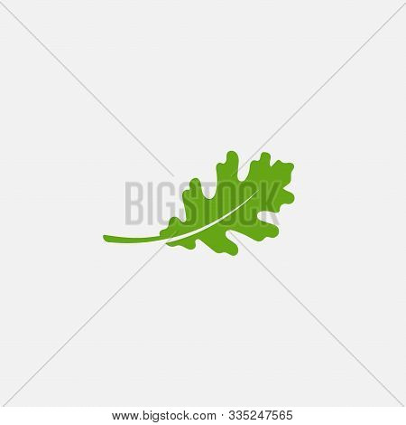 Green Leaf Ecology Nature Element Vector Icon, Leaf Icon, Green Oak Leaf Ecology Nature Element Vect