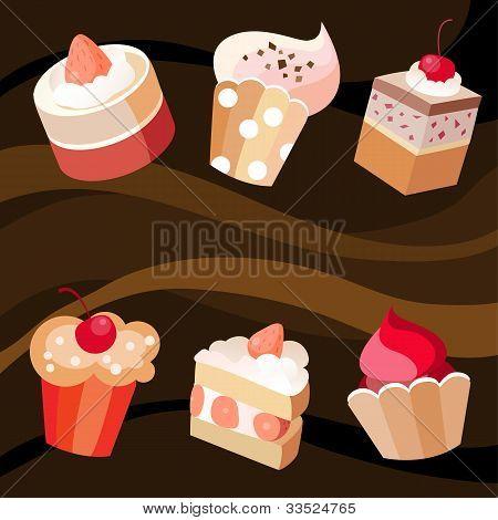 Six Cakes Set