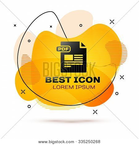 Black Pdf File Document. Download Pdf Button Icon Isolated On White Background. Pdf File Symbol. Abs