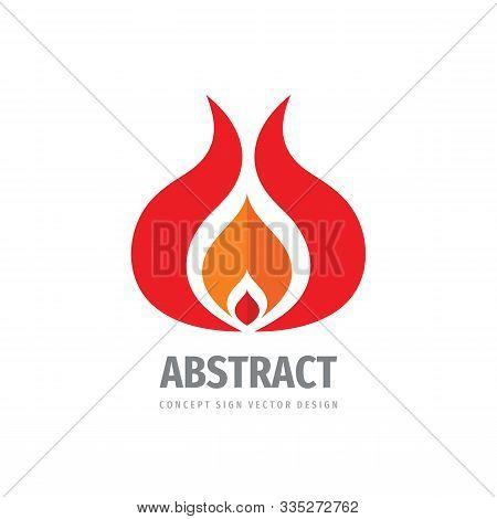 Fire Logo. Flame Vector Logo Design. Ignite Campfire Logo.