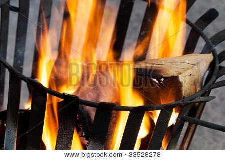 Burning Fire Basket
