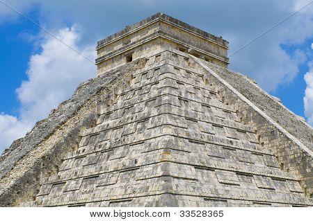 El Castillo or The Pyramid of Kukulkan at Chichen Itza on the Yucatan Peninsula in Mexico.