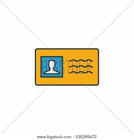 License To Work Icon. Outline Filled Creative Elemet From Business Ethics Icons Collection. Premium