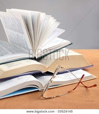 Education Book And Glasses