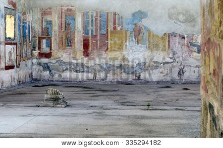 Pompeii, Archeological Site Near Naples, Palestra Dei Luvenes, Luvenes Gymnasium, Italy